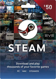 Steam Gift Card 50 USD Steam Key GLOBAL